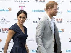 The Duke and Duchess of Sussex at the Victoria Palace Theatre in London (Dan Charity/PA)