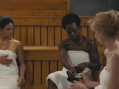 Michelle Rodriguez, Viola Davis, and Elizabeth Debicki star in Widows (Twentieth Century Fox)