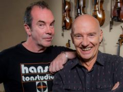 Still Game star Gavin Mitchell (left) with musician Midge Ure (Alan Peebles)