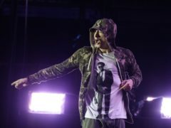 Eminem is on course to score his ninth consecutive number-one album in the UK (Yui Mok/PA)