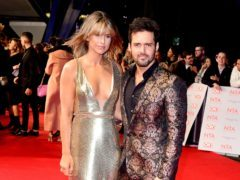 TV personality Spencer Matthews and his wife Vogue Williams (Ian West/PA)