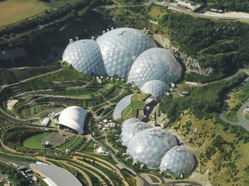 The Eden Project in Cornwall (Sealand Aerial Photography)