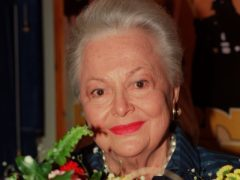 Dame Olivia de Havilland has taken her battle with a TV network over its portrayal of her in a drama to the highest court in the US (Rosie Hallam/PA)