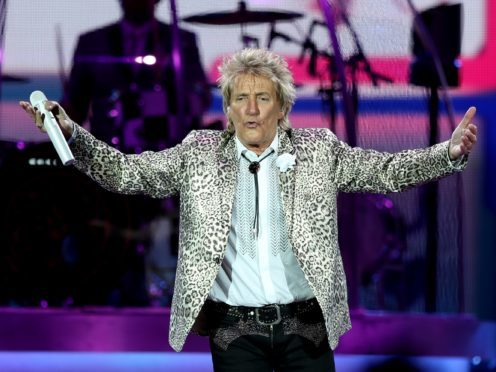 Sir Rod Stewart is at number one with Blood Red Roses (PA)