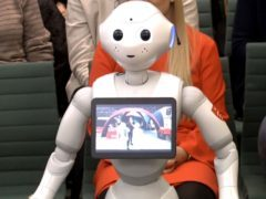 Pepper the robot, appearing before the Education Select Committee (PA)