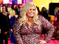 Gemma Collins appeared to skydive into the event (Ian West/PA)