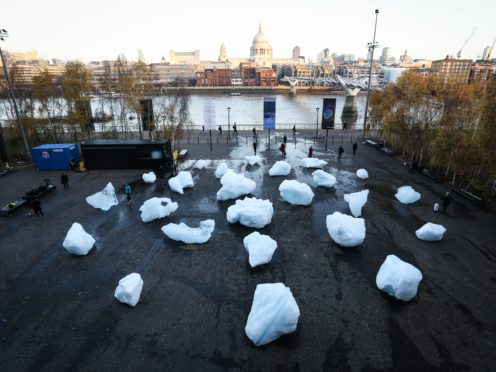 Ice Watch has created from 24 blocks of ice (Matt Alexander/PA)