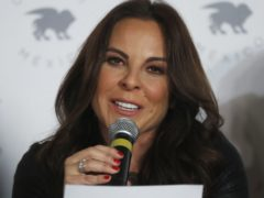 Kate del Castillo gives a press conference in Mexico City (Marco Ugarte/AP)