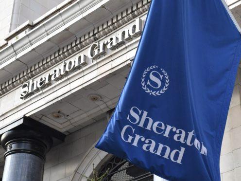 The Park Lane Sheraton Grand in London, a Marriott Starwood hotel (Dominic Lipinski/PA)