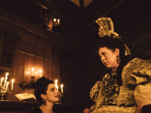 Rachel Weisz, left, as Sarah Churchill and Olivia Colman as Queen Anne in The Favourite (Yorgos Lanthimos/Fox Searchlight Pictures/PA)