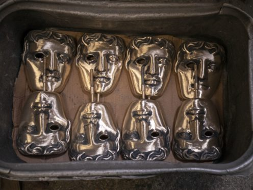 Finished masks wait to be collected during the hand-made casting of the Bafta ceremony next month (Steve Parsons/PA)
