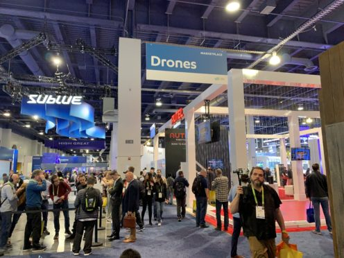 Drone manufacturers are showing off their latest models in Las Vegas (Martyn Landi/PA)