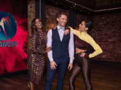 Dance captains Oti Mabuse, Matthew Morrison and Cheryl judge on the BBC show (Tom Dymond/BBC/Syco/Thames/PA)