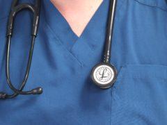 A nurse with a stethoscope (Lynne Cameron/PA)