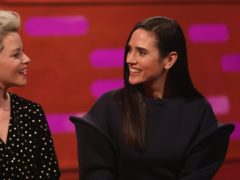 Jennifer Connelly with Elizabeth Banks on the Graham Norton Show (Isabel Infantes/PA)