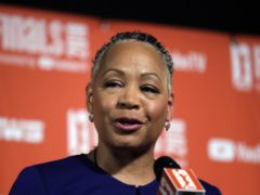 Time's Up president Lisa Borders stepped down after allegations of sexual assault were made against her son, the group has announced (Elaine Thompson/AP)