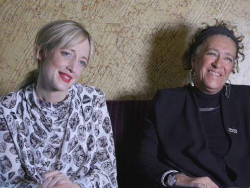 Andrea Riseborough and Dame Heather Rabbatts have launched the 4% Challenge in the UK (PA)