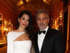 Amal Clooney and George Clooney at the dinner for donors, supporters and ambassadors of Prince's Trust International (Chris Jackson/PA)