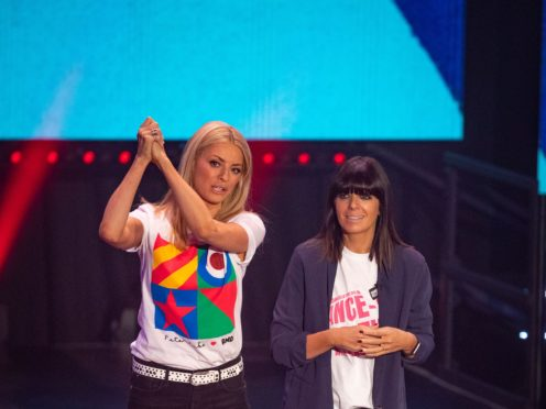 Tess Daly and Claudia Winkleman on The Red Nose Day show for 2019 as ratings tumble (Tom Dymond/BBC /Comic Relief)