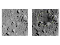 Crater on the surface of the Ryugu asteroid (JAXA/ University of Tokyo/Kochi University/Rikkyo University/Nagoya University/Chiba Institute of Technology/Meiji University/University of Aizu/AIST/PA)
