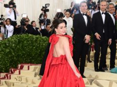 Actress Anne Hathaway became the latest star to be honoured on the Hollywood Walk Of Fame (Richard Shotwell/Invision/AP)