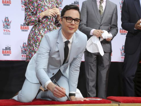 The cast of The Big Bang Theory were immortalised in cement outside Hollywood's TCL Chinese Theatre (Willy Sanjuan/Invision/AP)