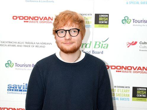 Ed Sheeran will receive the O2 Silver Clef Award at the ceremony (Victoria Jones/PA)