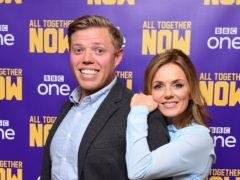 All Together Now hosts Rob Beckett and Geri Horner (Ian West/PA)