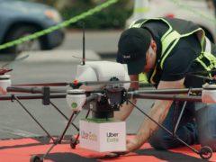 Uber Eats tests sending food deliveries via drone (Uber/PA)