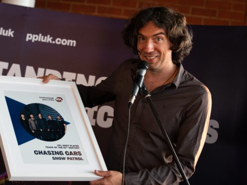 Gary Lightbody said Chasing Cars was one of 10 songs he wrote in one night (Aaron Chown/PA)