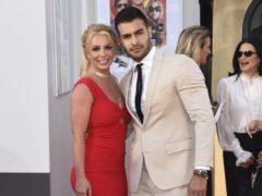 Britney Spears walked her first film red carpet with boyfriend Sam Asghari (Jordan Strauss/Invision/AP)