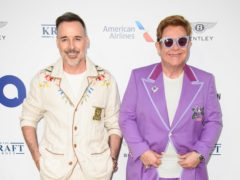 Elton John and David Furnish attending the Elton John Aids Foundation midsummer party (Matt Crossick/PA)
