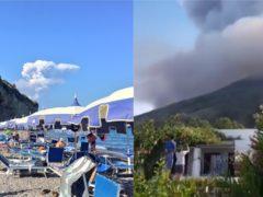 A volcano in Stromboli erupts (Carmelo Saia and demi cerveau)