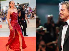 Scarlett Johansson and Brad Pitt at the Venice Film Festival (AP).