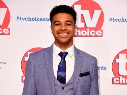 Asan N'Jie at the TV Choice Awards on Monday (Matt Crossick/PA)