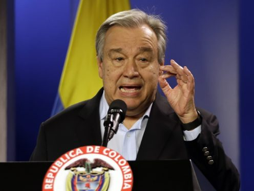 UN secretary-general Antonio Guterres said the race against climate change is currently being lost but urgent action can reverse it (AP/Fernando Vergara)