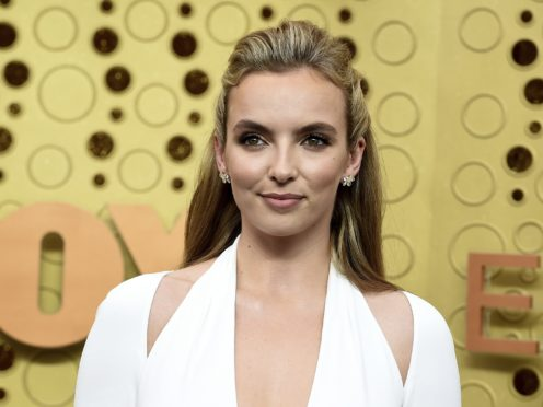 Jodie Comer was among the stars on the Emmys purple carpet (Jordan Strauss/Invision/AP)
