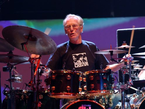 Drummer Ginger Baker of Cream performs live onstage. (Yui Mok/PA)