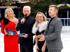 Holly Willoughby (left to right), Phillip Schofield, Jayne Torvill and Christopher Dean (right) during the press launch for the upcoming series of Dancing On Ice at the Natural History Museum Ice Rink in London. Picture date: Tuesday December 18, 2018. Photo credit should read: David Parry/PA Wire