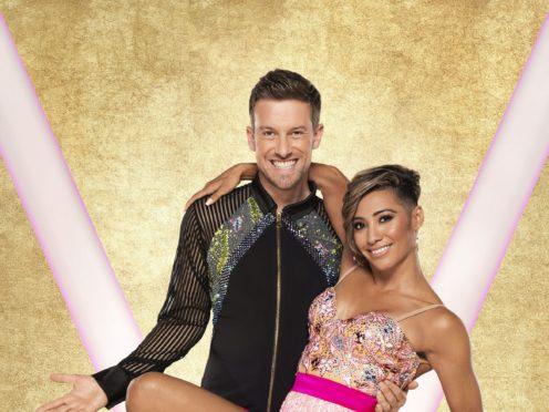 Chris Ramsay with his dance partner Karen Hauer (Ray Burmiston/BBC)