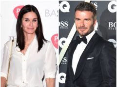 Why were David Beckham and Courteney Cox in a hot tub together? (PA)