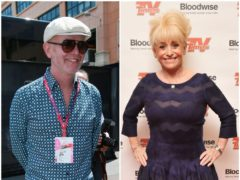 Chris Evans and Dame Barbara Windsor (PA)