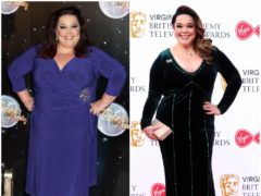 Lisa Riley during and after Strictly Come Dancing (PA)