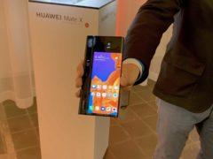 The foldable smartphone, Huawei Mate X (Martyn Landi/PA)