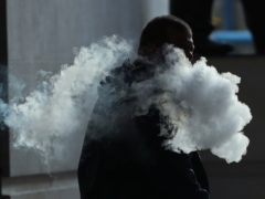 The vapour cloud produced by a man with an e-cigarette in London (Yui Mok/PA)