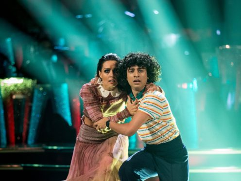 Karim Zeroual and Amy Dowden on Strictly Come Dancing (Guy Levy/BBC)