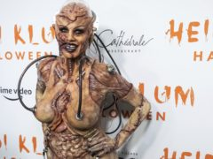 Heidi Klum donned an elaborate costume for her annual Halloween party (Charles Sykes/Invision/AP)