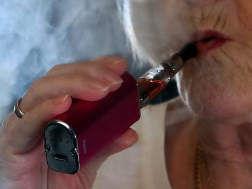 A woman vaping (Peter Byrne/PA)