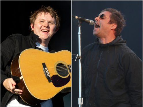 Lewis Capaldi and Liam Gallagher at previous editions of TRNSMT (Lesley Martin/Andrew Milligan/PA)