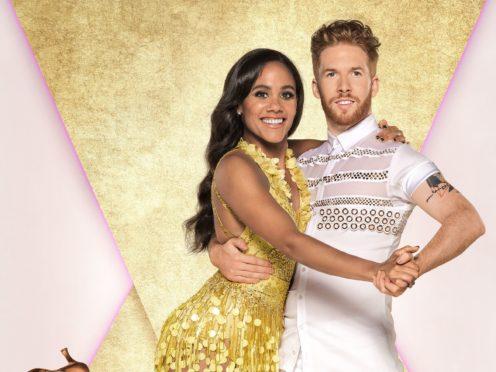 Alex Scott with her dance partner Neil Jones (Ray Burmiston/BBC)